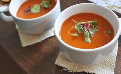 Soupe aux légumres - Une journée dans mon assiette