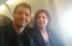 Dans l'avion pour le Burundi