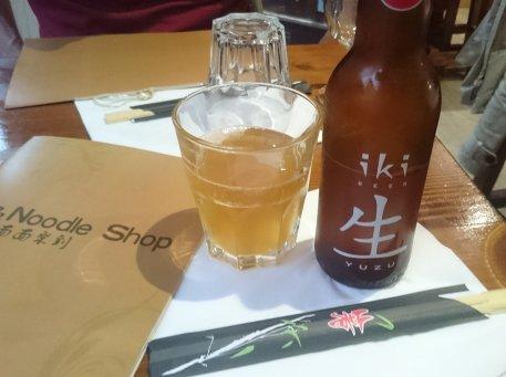 Iki, Bière Japonaise de luxe, brassée avec du thé vert et du citron Japonais (yuzu)