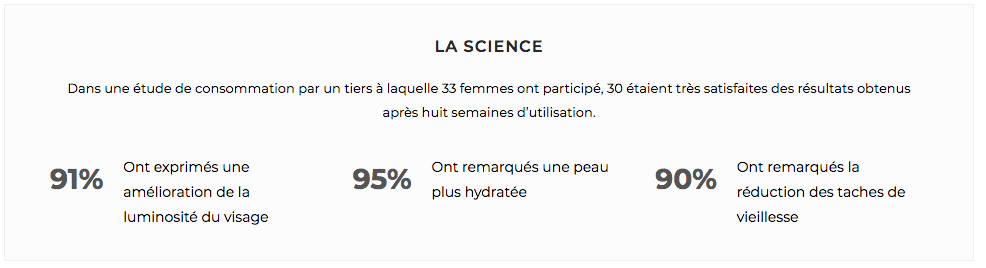 Résultat skin cure Matcha and co