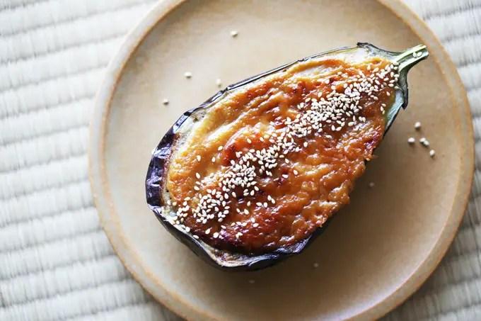 eggplant aubergine miso glazed recipe