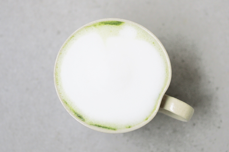 Matcha green tea latte with almond milk recipe