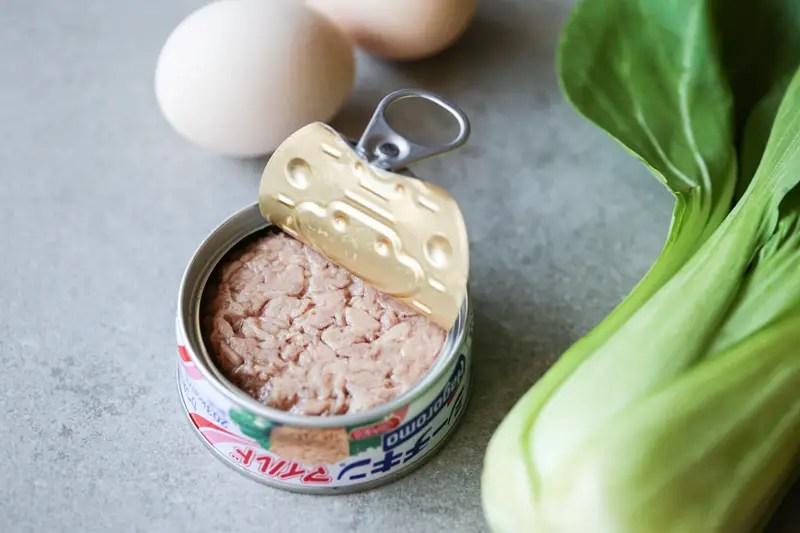 ingredients of Japanese scrambled eggs