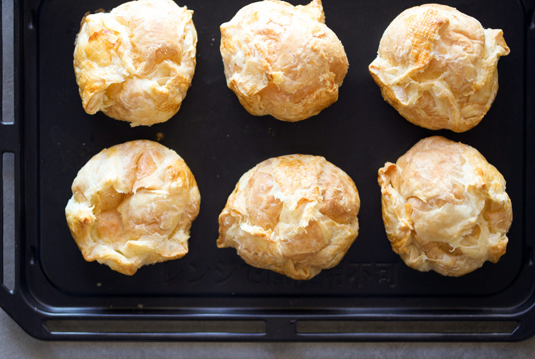 risen pie cream puffs