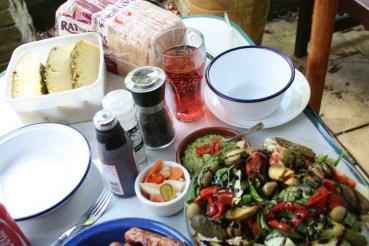 May Bank Holiday Barbecue in 2013 (a big bowl of salad)