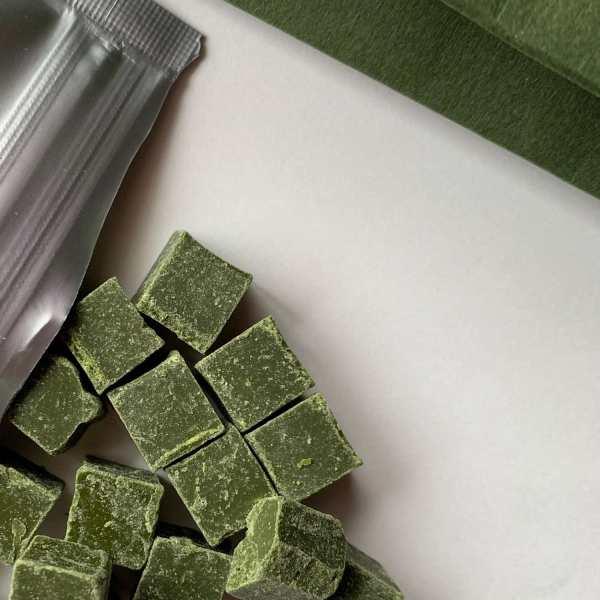 Chocolat noir au thé vert bio