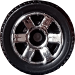 Matchbox Wheels : 6 Spoke - Chrome