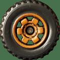 6 Spoke Ringed Gear - Brown
