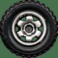 Matchbox Wheels : 6 Spoke Ringed Gear - Chrome