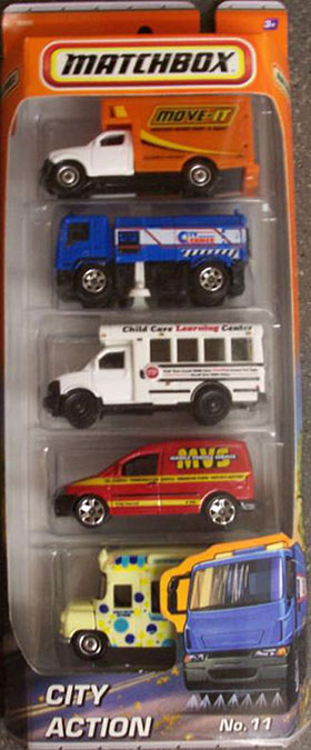 Matchbox 5 Pack #11 City Action