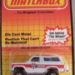 Matchbox Long Card 1984