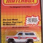 Matchbox Long Card 1984