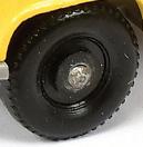 Matchbox Black Plastic Wheel