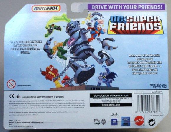 Matchbox 5 Pack : 2008 DC Superfriends