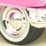 Matchbox Chrome Disc Rubber Tyre
