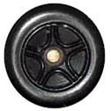 Matchbox Wheels : 5 Spoke Concave Star - Black