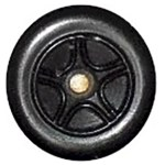 Matchbox Wheels : 5 Spoke Concave Star - Black