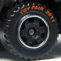Matchbox Wheels : 6 Spoke Ringed Gear - Black - Toy Fair