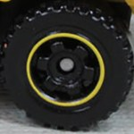 Matchbox Wheels : 6 Spoke Ringed Gear - Black-Yellow