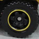 Matchbox Wheels : 6 Spoke Ringed Gear - Black-Yellow