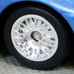 Matchbox Wheels : 10 Spoke Rubber Chrome