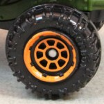 Matchbox Wheels : 8 Spoke Rimmed - Orange