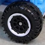 Matchbox Wheels : 8 Spoke Rimmed - Black/White