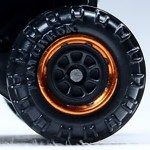 Matchbox Wheels : 8 Spoke Rimmed - Black/Orange