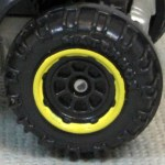 Matchbox Wheels : 8 Spoke Rimmed - Black/Yellow