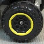 Matchbox Wheels : 8 Spoke Rimmed - Black/Yellow
