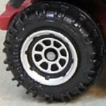 Matchbox Wheels : 8 Spoke Rimmed - Chrome