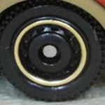 Matchbox Wheels : Disc - Black-Gold RIm