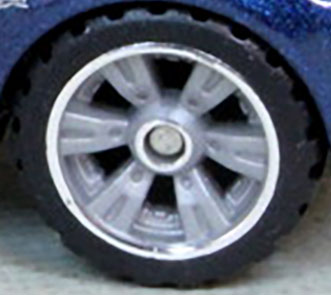 Matchbox Wheels : Double 6 Spoke UltraMax Light Grey