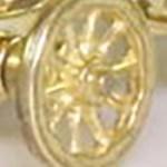 Matchbox Models of Yesteryear Wheels : 10 Spoke - Brass