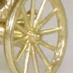 Matchbox Models of Yesteryear Wheels : 12 Spoke - Brass