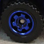 Matchbox Wheels : 6 Spoke Ringed Gear - Blue