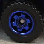 Matchbox Wheels : 6 Spoke Ringed Gear - Blue