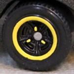 Matchbox Wheels : Tri-Spoke - Yellow