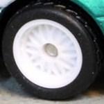 Matchbox Wheels : 10 Spoke Rubber White