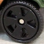 Matchbox Wheels : 5 Spoke Superfast - Black