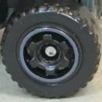 Matchbox Wheels : 6 Spoke Ringed Gear - Black/Grey