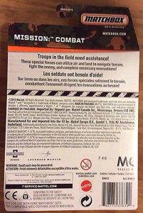 Matchbox 2014 Mission Combat