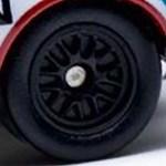 Matchbox Wheels : 10 Spoke Rubber - Black
