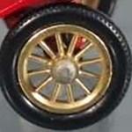 Models of Yesteryear Wheels : 12 Spoke Brass - 13mm