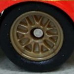 Matchbox Wheels : 14 Spoke Rubber - Brown