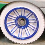 Matchbox Wheels : Double 10 Spoke - White-Blue