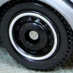 Matchbox Wheels : Ringed Disc - Black-Chrome RIm