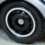 Matchbox Wheels : Ringed Disc - Black-Chrome RIm