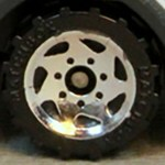 Matchbox Wheels : Sawblade - Chrome