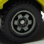 Matchbox Wheels : 6 Spoke Ringed Gear - Pale Grey